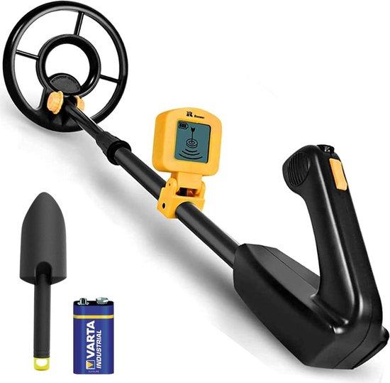 DETECT-IT Metaaldetector - Voor kinderen - Waterdicht & Lichtgewicht - LCD Scherm - Verstelbaar - Inclusief Batterijen en Schep