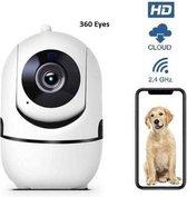 Huisdiercamera- Hondencamera- Dog Camera- IP Beveiligingscamera-2 Weg Audio-WiFi-Beweeg en Geluidsdetectie-Nachtvisie- Draadloos- Met App-  Hondencamera Beelden Op Telefoon-Opslag in Cloud of SD-ONVIF-Inclusief Nederlandse Handleiding