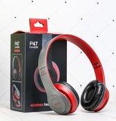 Bovadi® P47 Bluetooth 5.0 koptelefoon Draadloze headset Wireless Headphones Rood