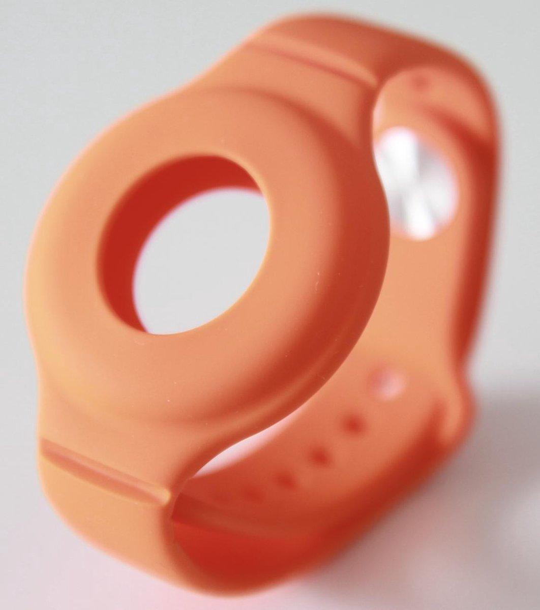 Nieuwe Model Apple Airtag Sleutelhanger   Airtag Polsband voor Kinderen (Vanaf 2 jaar) & Volwassenen  Oranje