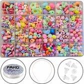 Fako Bijoux® - Kinder Kralen Set - Acryl - Sieraden Maken - Serie 8 - Box - 550 Stuks