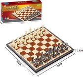 Schaakbord met Schaakstukken - Schaakset - Schaakspel - Chess Set - Schaken - Opklapbaar