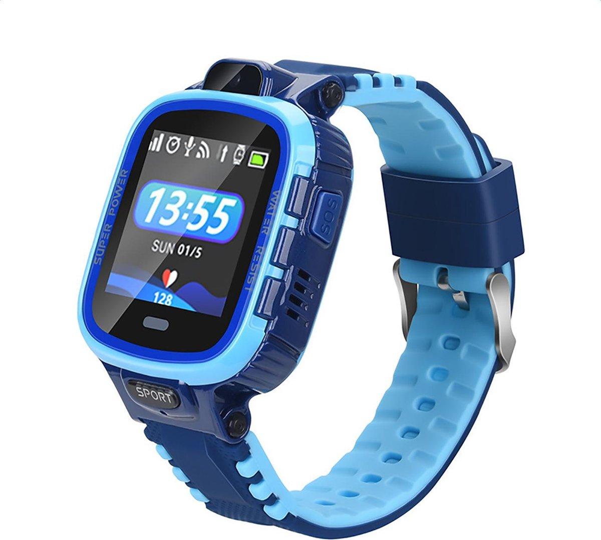 GPS Tracker voor Kind - Volgsysteem voor Kinderen - SOS Bel Functie - Werkt via SimKaart - Blauw