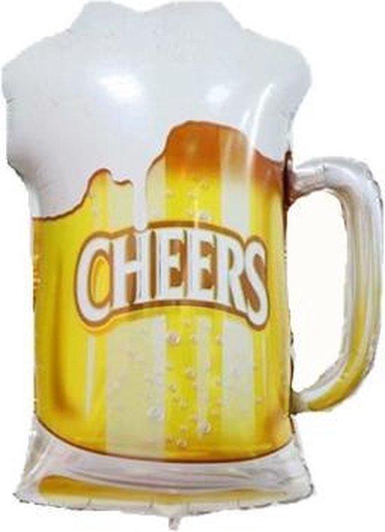 Bierpul ballon - 70cm - Ballonnen - Bierglas - Bier - Folieballon - Feest - Versiering - Leeg - Folie Ballon - Cheers