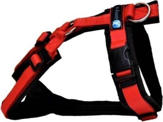 Anny x hondentuig speurtuig -Y model- zwart rood-maat M