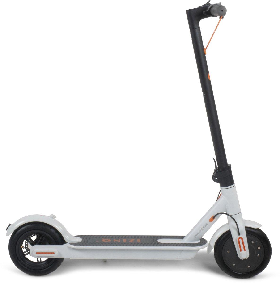 """IZINQ PRO250 - Elektrische step - 8.5"""" (lucht)banden - 2 jaar garantie op lithium 7.8Ah 36V accu - iOS/Android app - Wit/Oranje - 25km/u - Electric scooter - Volwassenen en kinderen"""