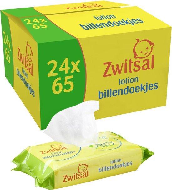 Zwitsal Lotion Billendoekjes - 24 x 65 stuks - Voordeelverpakking - Zwitsal