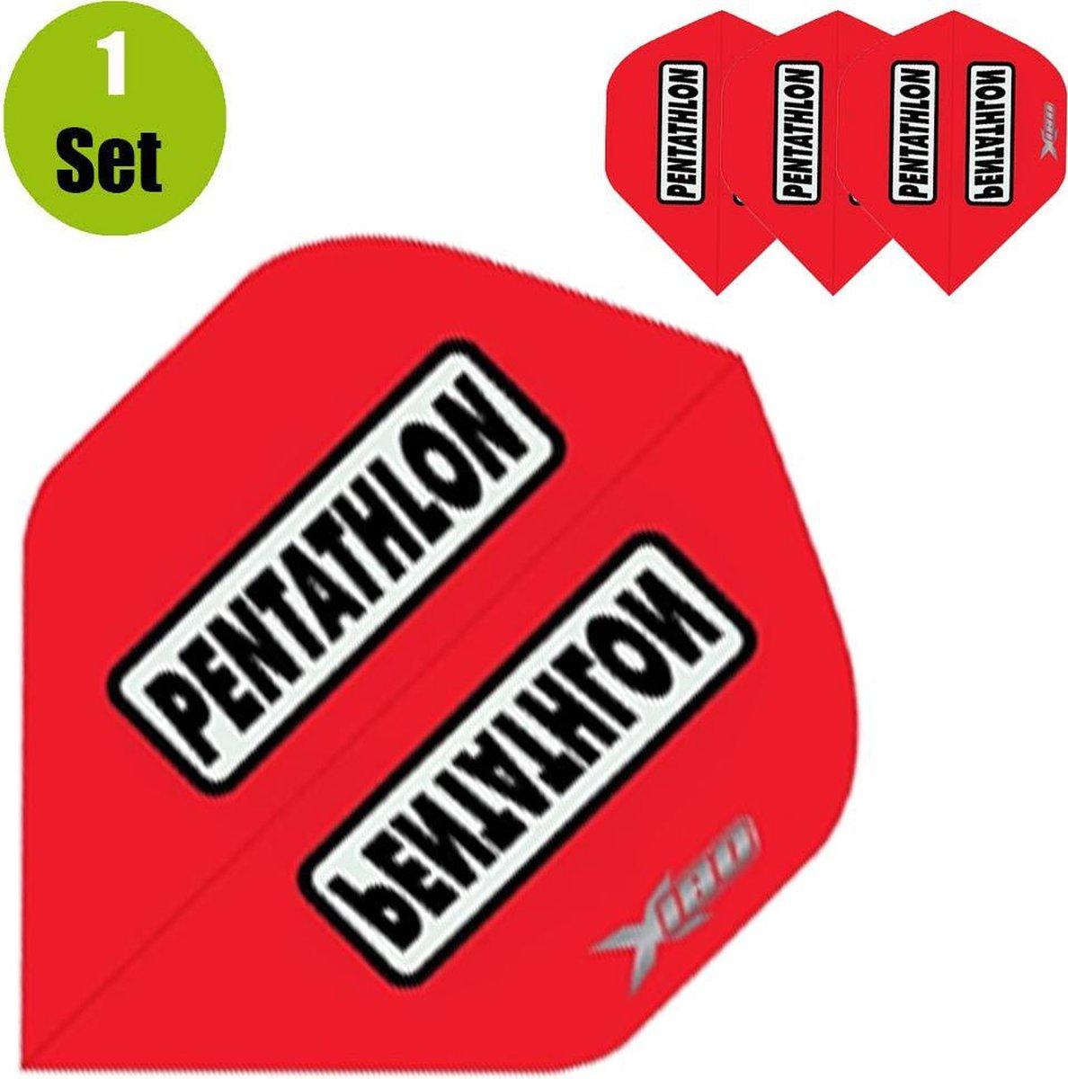 Pentathlon Xtream 180 Dartflights - Rood- ()