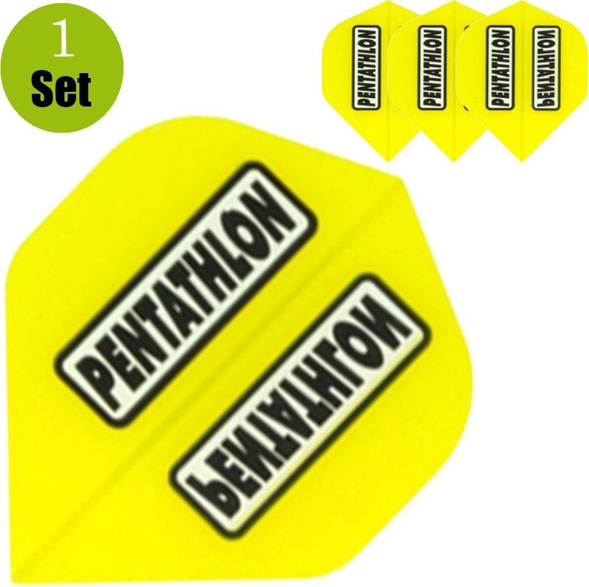 Pentathlon Dartflights - Geel- ()