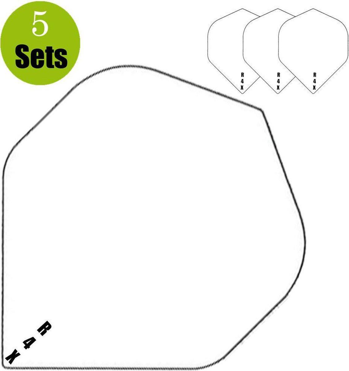 Ruthless R4X Dartflights - Wit- (5 Sets)