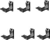 Leuninghouder zwart - Opschroef - Vlak zadel  Hermeta - 3540-18 - 6 stuks