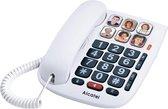 Alcatel TMAX10S Senioren huistelefoon vaste lijn | Met 6 grote fotogeheugen toetsen voor slechtzienden en slechthorenden | Wit