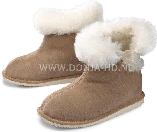 Donja HD schapenvacht pantoffels hoog model met elastiek maat 41 model Stockholm