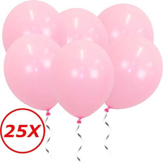 Roze Ballonnen Gender Reveal Babyshower Versiering Verjaardag Versiering Roze Helium Ballonnen Feest Versiering Roze 25 Stuks
