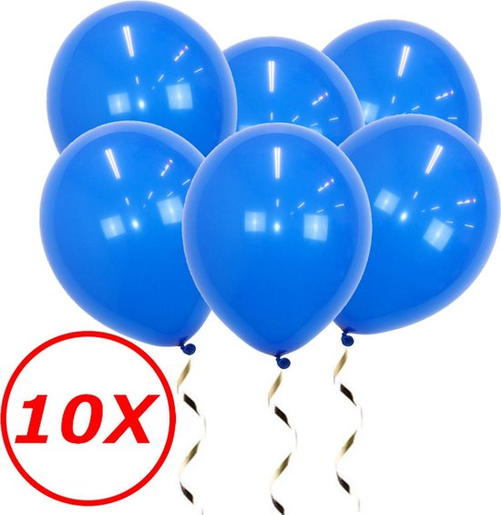 Blauwe Ballonnen Verjaardag Versiering  Blauwe Helium Ballonnen EK WK Koningsdag Feest Versiering Blauw 10 Stuks