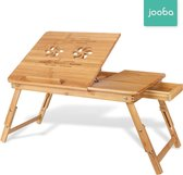 Jooba® Bedtafel en Laptop standaard van bamboe in hoogte verstelbaar -  Laptop verhoger - Laptoptafel - Tafel verhoger