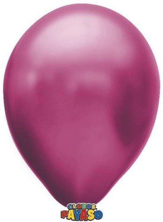 Zakje met 15 fuchsia metallic latex ballonnen - 30cm doorsnee (12 inch) - Biologisch afbreekbaar