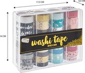 Craft Sensations Washi Tape 40 rollen van elk 3 meter | Decoratieve masking tape in 40 unieke ontwerpen voor handwerk, journaling, scrapbooking & meer | Plakrollen inclusief handig opbergdoosje