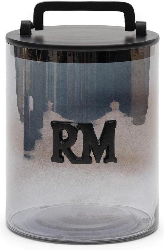 RM Smoked Glass Storage Jar M
