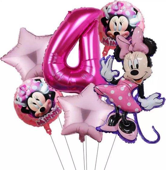 Disney Mickey Minnie Mouse Party 6 Stuks  Ballonnen 32Inch Nummer Opblaasbare Folie Ball Kids Birthday Decoratie Baby Shower Ballon
