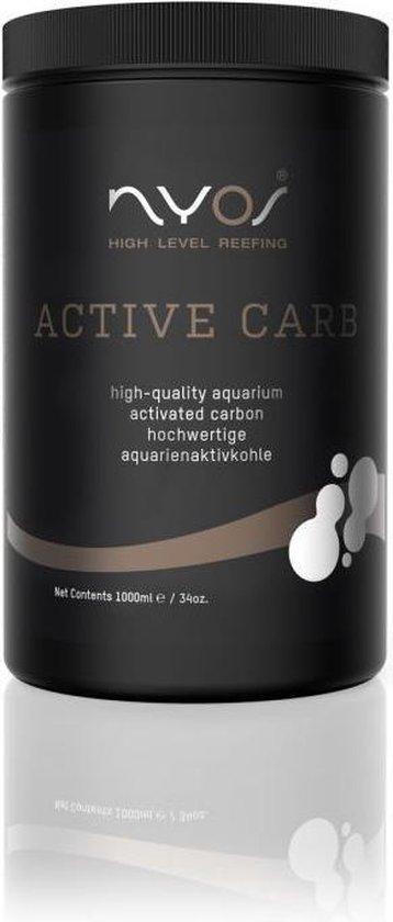 Nyos Active Carb - 1000ml - koolstoffilter - actieve koolstof - actieve kool - actieve kool korrels - Aquarium - carbon filter - zeeaquarium - zoutwater aquarium - actieve kool aquarium - activated charcoal - Filtratie