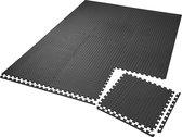 tectake  - beschermingsmatten vloermat - 12 delige set - ca. 5 m2 - schakelbaar - 402255