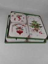 48 luxe kerstkaarten-kerst- en nieuwjaarskaarten met enveloppen- Dubbele kaarten met enveloppen - Groen