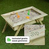 Gepersonaliseerde Staande Zandbak, met de naam van je kind | Zandtafel  | 85 x 50 | Geïmpregneerd | Kinderen | Spelen
