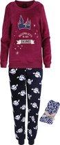 Bordeaux en marineblauwe pyjama + sokken Harry Potter