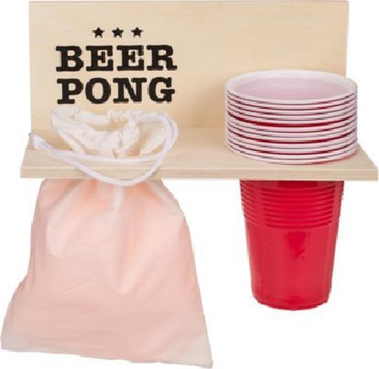 Afbeelding van het spel Beer Pong Shelf with 12 cups + 12 balls