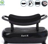 XatiX - Trilplaat Zwart - Trilplaat fitness - Powerplate - Incl stretchbands - 99 standen