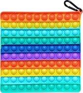 Pop it XL   Vierkant - 20 x 20 cm - Fidget Toy   Groot Formaat   Rainbow Vierkant