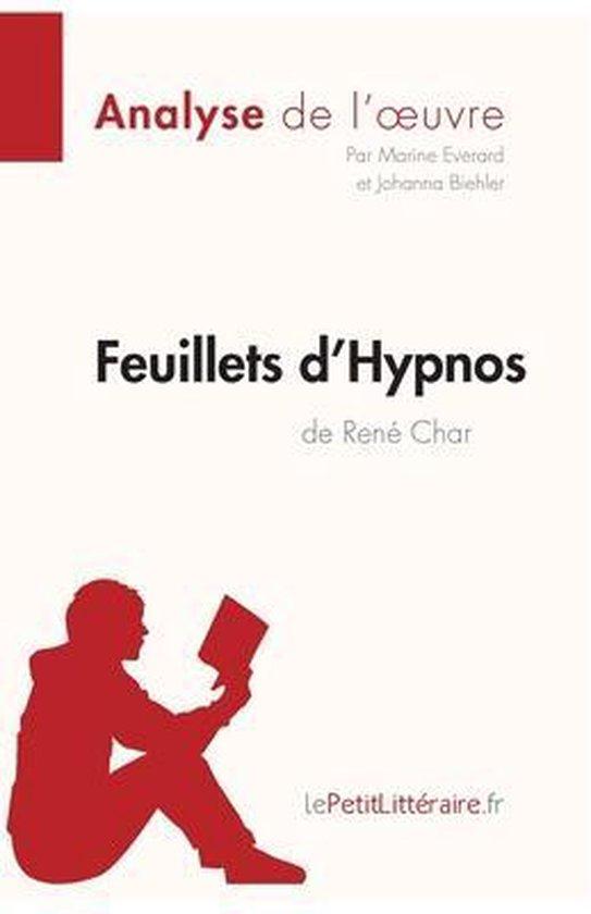 Boek cover Feuillets dHypnos de Rene Char (Analyse de loeuvre) van Marine Everard (Paperback)