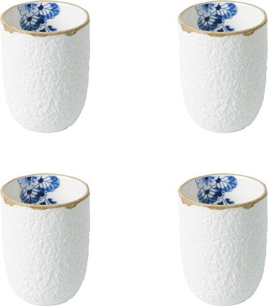 Heinen Delfts Blauw   Blauw Bloesem Espressokopjes   4 stuks
