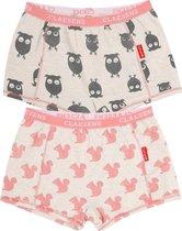 Claesen's meisjes onderbroek - Owl Squirl - 2-pack maat 140-146