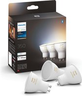 Philips Hue Slimme Lichtbron GU10 Spot - White Ambiance - 3-pack - Bluetooth