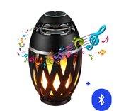 Speaker Bluetooth - Bluetooth Speakers met LED Vlam Tafellamp - Portable Speaker voor buiten en binnen - Waterproof - Zwart