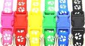 Puppy halsbandjes   id nest bandjes fokker   Set van 12 kleuren   18-33cm