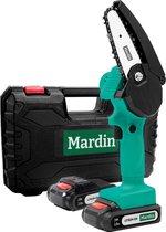 Mardin - Mini kettingzaag - Snoeizaag - Kettingzaag - Kettingzaag Electrisch met 2 Accu - Inclusief Koffer -  1 Extra Accu - Groen