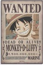 One Piece poster Monkey-Luffy-wanted-manga-Japans-anime-61x91.5cm