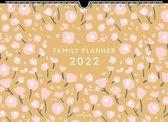 Hallmark Familyplanner 2022 - mustard & pink - 5 personen - ringband A4