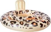 Little koekies baby zwemzitje - Panter beige 0-1 jaar - kraamcadeau