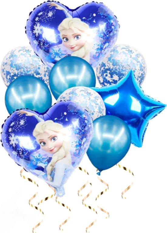 Set folie ballonnen - Frozen - Elsa - blauw - set van 10