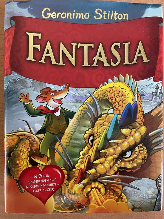 Boek cover Fantasia 1 -   Fantasia van Geronimo Stilton (Hardcover)