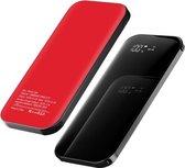LDNIO Draadloze Powerbank - 10.000mAh – Voor iPhone en Samsung - Quick Charge & PD - Met ingebouwde USB-C kabel, Lighting kabel en Micro USB adapter - Wireless Charging