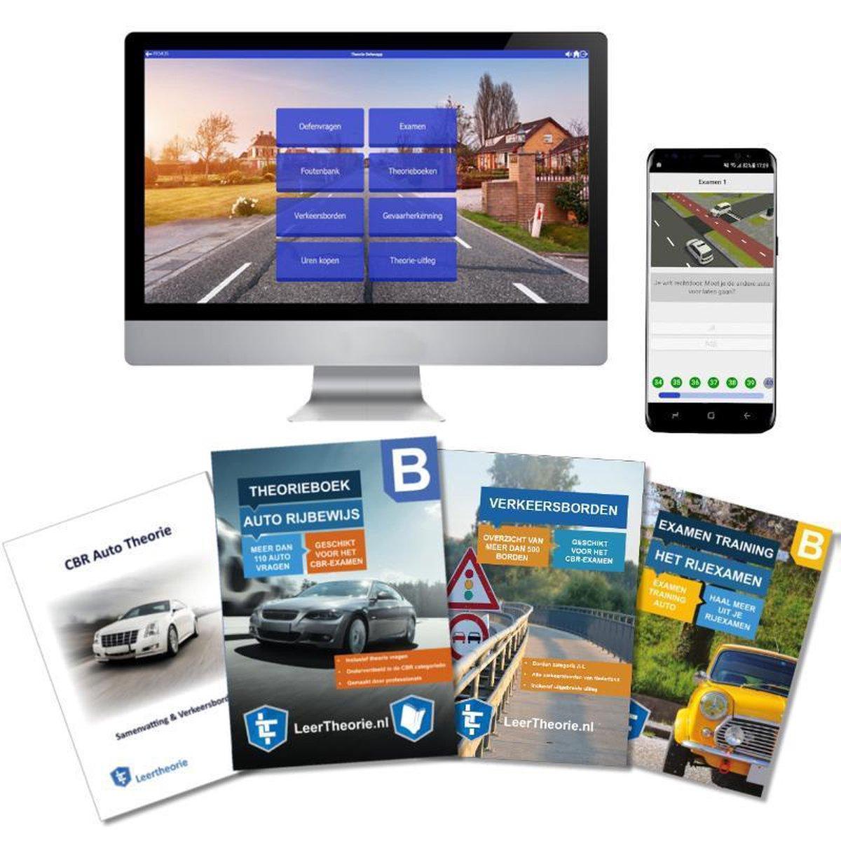AutoTheorieboek 2021 Rijbewijs B | Auto Theorieboek | Auto Theorie Samenvatting | Verkeerborden over