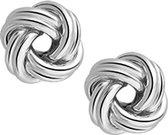 Glams Oorknoppen Knoop - Zilver