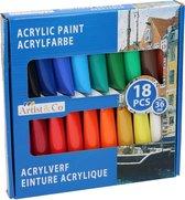 Acrylverf 18-Delig
