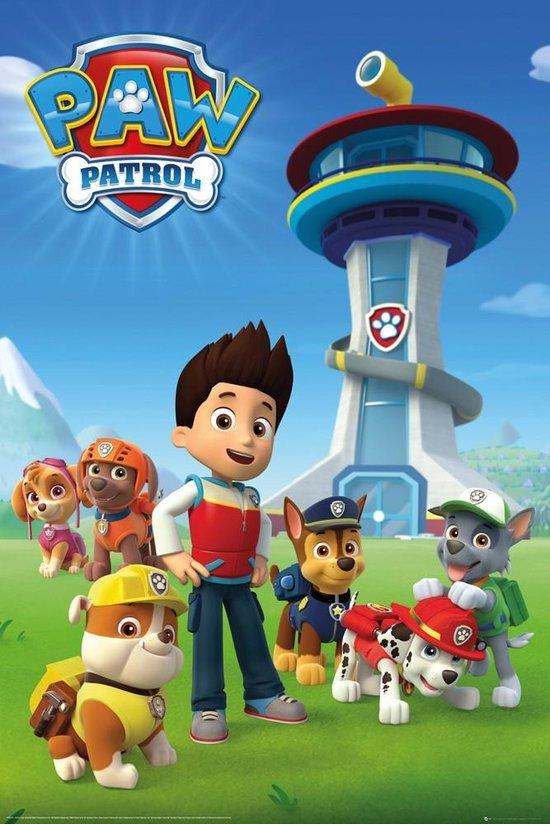 Paw Patrol tekenfilm kinderserie poster 61x91.5cm.