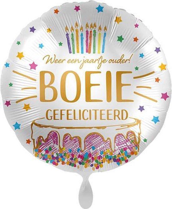 Everloon - Folieballon - Weer Een Jaartje Ouder! Boeie! Gefeliciteerd - 43cm - Voor verjaardag